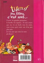 Verso de Titeuf (Bibliothèque Rose) -61176- Les filles, c'est nul...