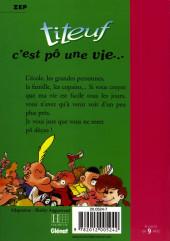 Verso de Titeuf (Bibliothèque Rose) -31173- C'est pô une vie...