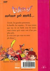 Verso de Titeuf (Bibliothèque Rose) -11171- Même pô mal...