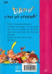 Verso de Titeuf (Bibliothèque Rose) -21172- C'est pô croyab'...