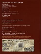 Verso de Blake et Mortimer -18TL2- Le sanctuaire du Gondwana