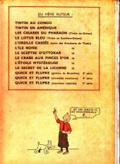 Verso de Tintin (Historique) -7A23bis- L'île noire