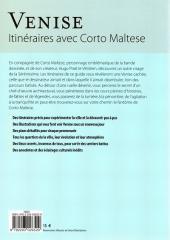 Verso de Corto Maltese (Divers) -4- Venise - Itinéraires avec Corto Maltese