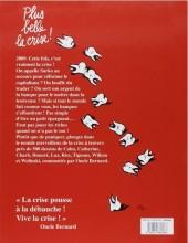 Verso de Charlie Hebdo - Une année de dessins -2009- Plus belle la crise !
