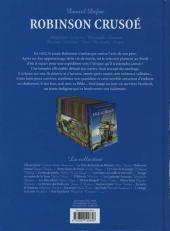 Verso de Les incontournables de la littérature en BD -3- Robinson Crusoé