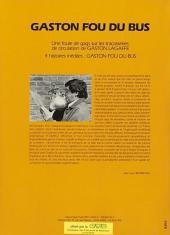 Verso de Gaston (Hors-série) -FB29- Fou du bus - CTB