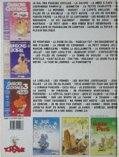 Verso de Chansons cochonnes -3- Tome 3