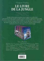 Verso de Les incontournables de la littérature en BD -5- Le Livre de la jungle