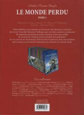 Verso de Les incontournables de la littérature en BD -6- Le Monde perdu - Tome 1