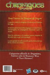 Verso de Chroniques de DragonLance -3- Dragons d'une aube de printemps, première partie