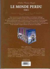 Verso de Les incontournables de la littérature en BD -7- Le Monde perdu - Tome 2