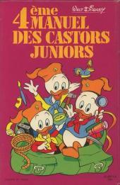 Verso de Manuel des Castors Juniors -4- 4ème manuel des Castors Juniors