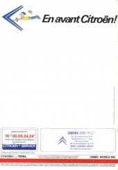 Verso de Tintin - Publicités -Citroën- Les Aventures de la 2 CV