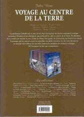 Verso de Les incontournables de la littérature en BD -9- Voyage au centre de la Terre