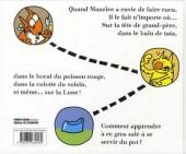Verso de Maurice et Patapon - C'est pas là qu'on fait caca !