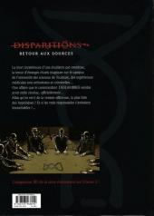 Verso de Disparitions -4- Retour aux sources IV