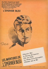 Verso de L'Épervier bleu (Dupuis) -6- La vallée interdite