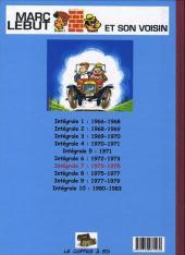 Verso de Marc Lebut et son voisin -Int07- Intégrale 7 : 1973-1975