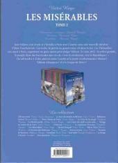 Verso de Les incontournables de la littérature en BD -13- Les Misérables - Tome 2