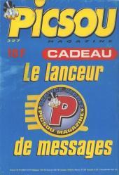Verso de Picsou Magazine -327- Picsou Magazine N°327