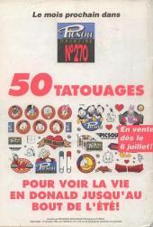 Verso de Picsou Magazine -269- Picsou Magazine N°269