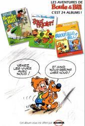 Verso de Boule et Bill -03- (Publicitaires) -23Malabar- 'faut rigoler !