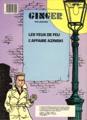 Verso de Ginger (Jidéhem) -5- L'affaire Azinski