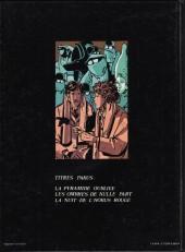 Verso de Victor Billetdoux -3- La nuit de l'Horus rouge