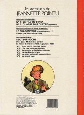 Verso de Jeannette Pointu -1- Le fils de l'Inca