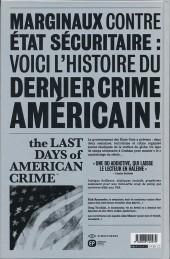 Verso de Last Days of American Crime (The) -1- Tome 1/3
