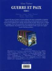 Verso de Les incontournables de la littérature en BD -18- Guerre et Paix - Tome 2