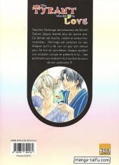 Verso de Tyrant who fall in love (The) -1- Tome 1