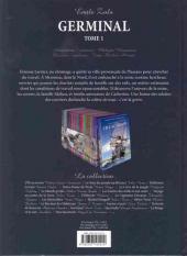 Verso de Les incontournables de la littérature en BD -20- Germinal - tome 1