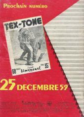 Verso de Tex-Tone -63- Gladsome, lieu maudit
