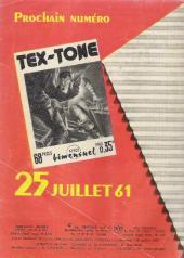 Verso de Tex-Tone -101- Le jour des moissons...