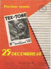 Verso de Tex-Tone -278- Une signature difficile