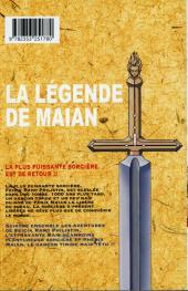Verso de La légende de Maian -1- Tome 1