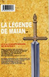 Verso de La légende de Maian -2- Tome 2