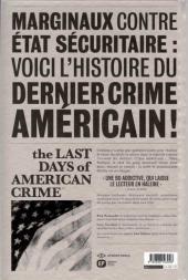 Verso de Last Days of American Crime (The) -2- Tome 2/3