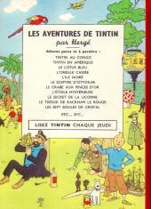 Verso de Tintin - Pastiches, parodies & pirates -PIR- Tintin contre Kuifje