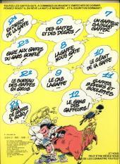 Verso de Gaston -12a1981'- Le Gang des gaffeurs
