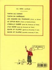 Verso de Tintin (Fac-similé N&B) -8PF- Le sceptre d'Ottokar