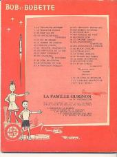 Verso de Bob et Bobette -38- Les rayons zouin