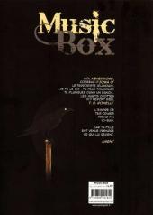 Verso de Music box -1- Sa fille n'a pas de nom... elle va s'en trouver un!