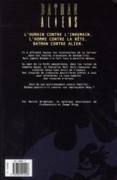 Verso de Batman - Aliens - Tome INT
