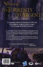 Verso de La légende de Drizzt -5- Les Torrents d'Argent