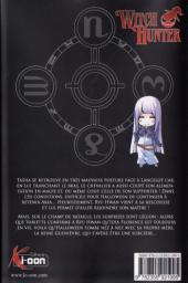 Verso de Witch Hunter -10- Tome 10