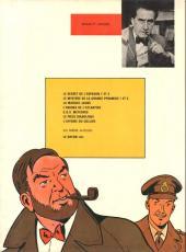Verso de Blake et Mortimer (Les aventures de) (Historique) -6e1974- L'Énigme de l'Atlantide