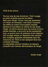 Verso de Tintin - Pastiches, parodies & pirates -PIR- Tintin & les avions