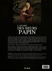 Verso de Les grandes affaires criminelles et mystérieuses -3- L'affaire des sœurs Papin
